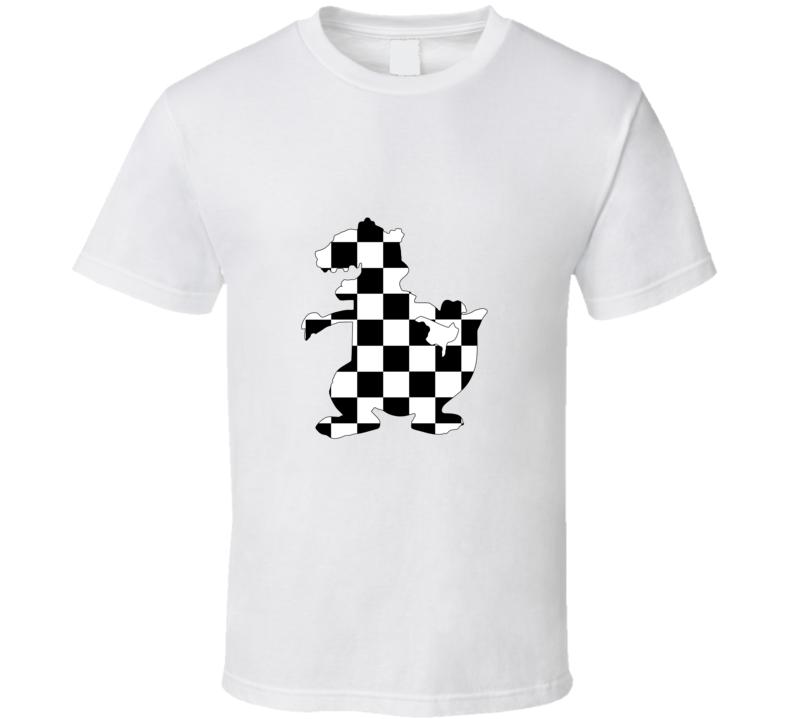 Reptar Rugrats Checkered T Shirt