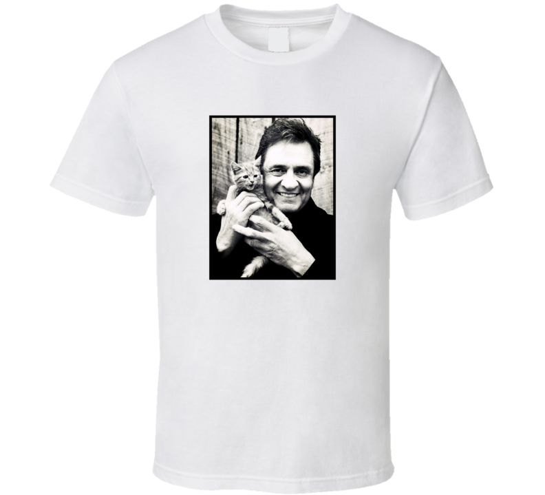 Johnny Cash Kitten T Shirt