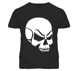 New Skull Fangs Invert Vectorized Heavy Metal Punk Music Men's and Ladies T-Shirt All Color and Size Available