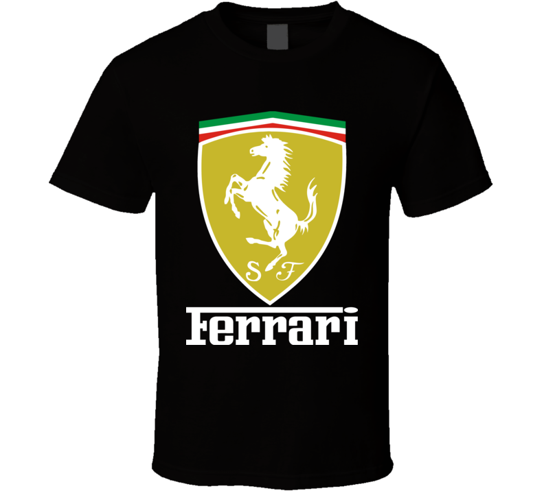 White Ferrari Fan Racing Design Men's and Ladies T-Shirt for suitable Color and All Size Available