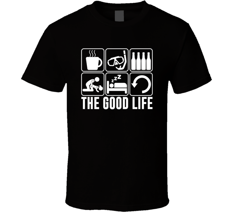 The Good Life Snorkelling Fan T Shirt