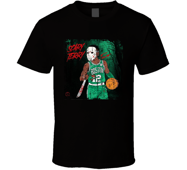 Scary Terry Terry Rozier Boston Basketball Grunge T Shirt