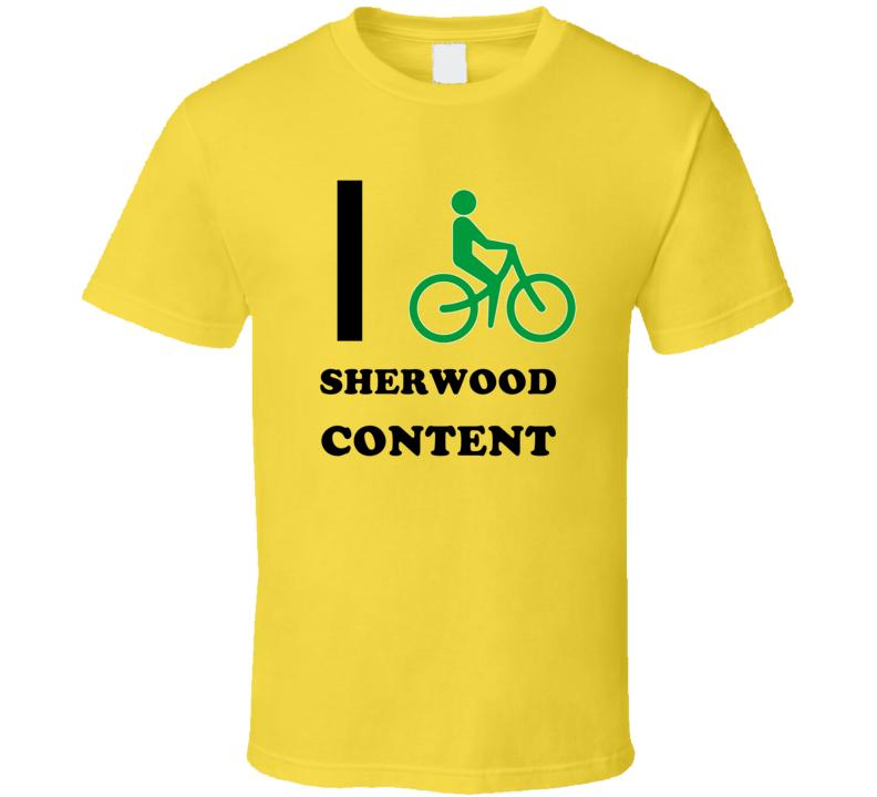 I Bike Sherwood Content Jamaica Funny Bicycle City T Shirt