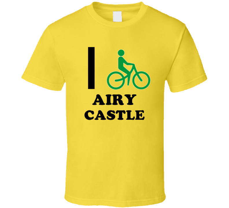 I Bike Airy Castle Jamaica Funny Bicycle City T Shirt