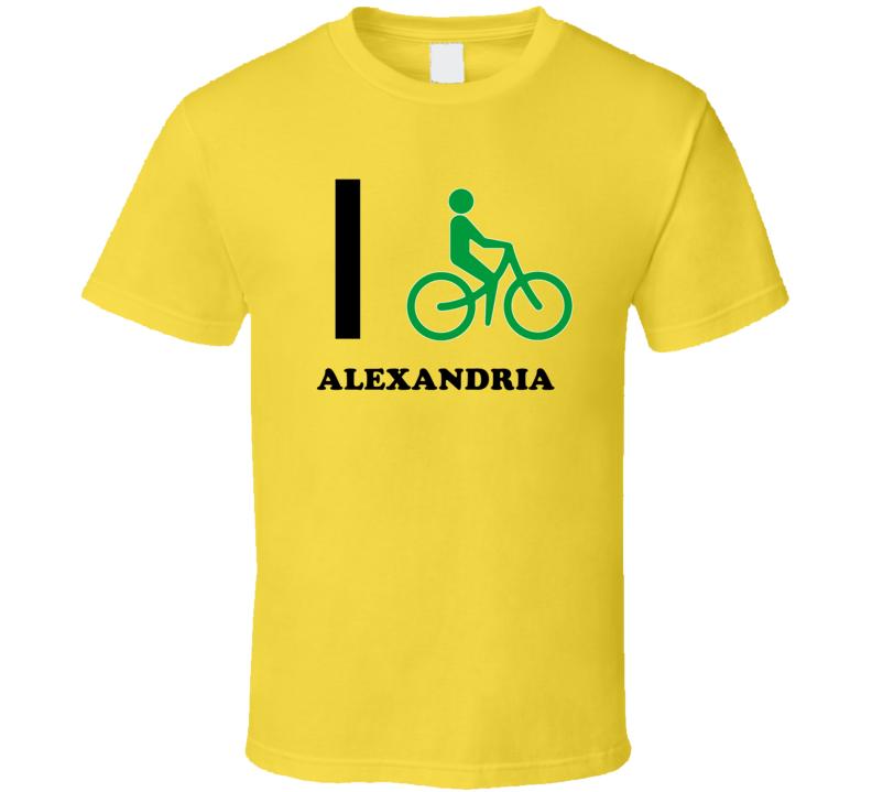 I Bike Alexandria Jamaica Funny Bicycle City T Shirt