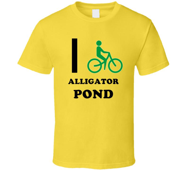 I Bike Alligator Pond Jamaica Funny Bicycle City T Shirt