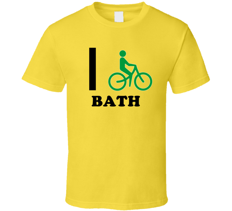 I Bike Bath Jamaica Funny Bicycle City T Shirt
