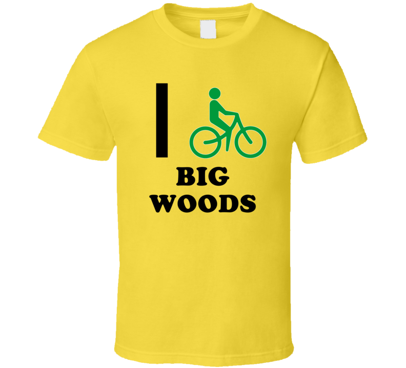 I Bike Big Woods Jamaica Funny Bicycle City T Shirt