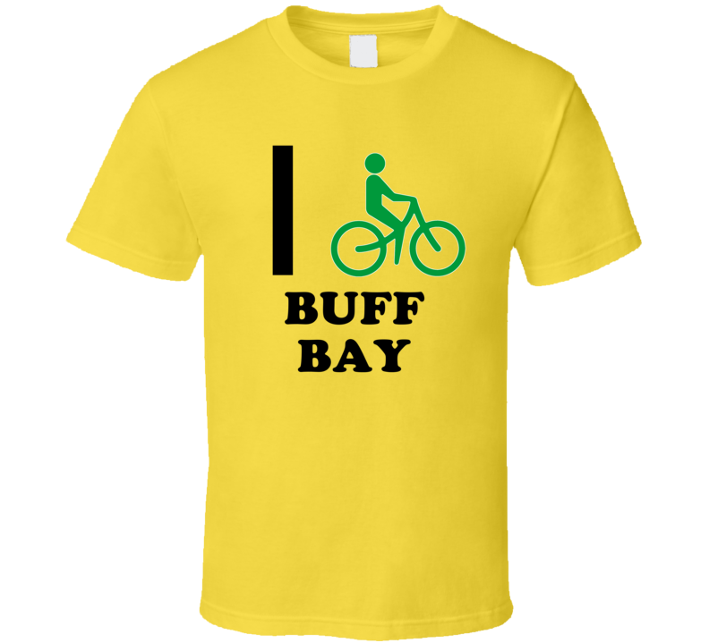 I Bike Buff Bay Jamaica Funny Bicycle City T Shirt
