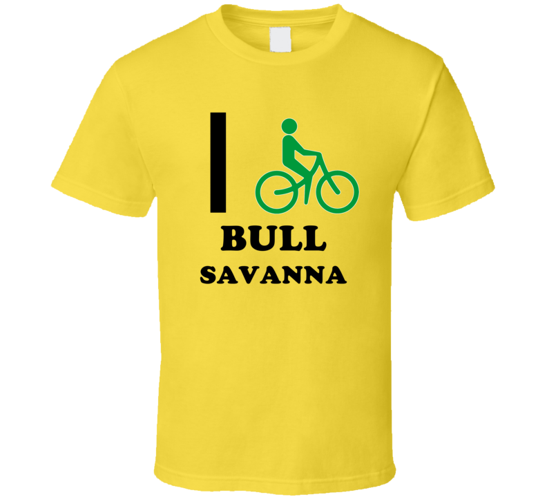 I Bike Bull Savanna Jamaica Funny Bicycle City T Shirt