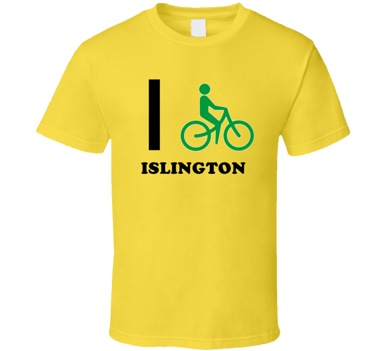 I Bike Islington Jamaica Funny Bicycle City T Shirt