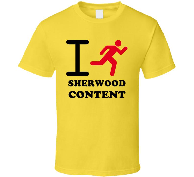 I Run Sherwood Content Jamaica Funny City T Shirt