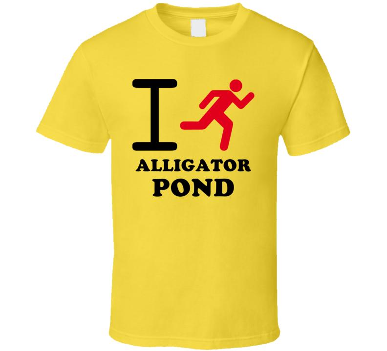 I Run Alligator Pond Jamaica Funny City T Shirt