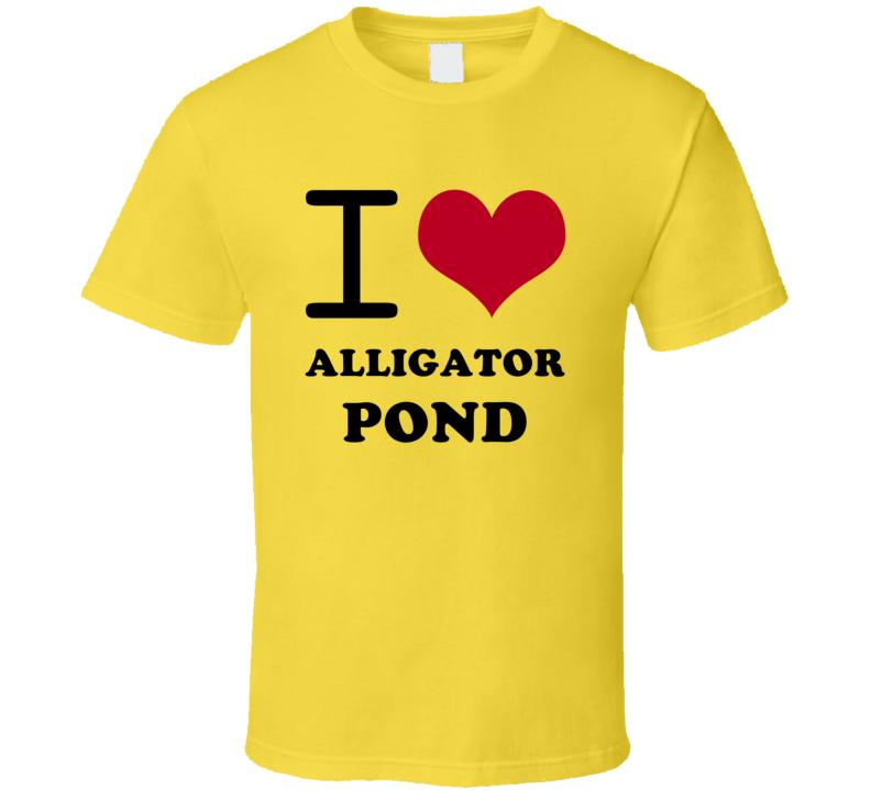 I Heart Alligator Pond Jamaica Love City T Shirt