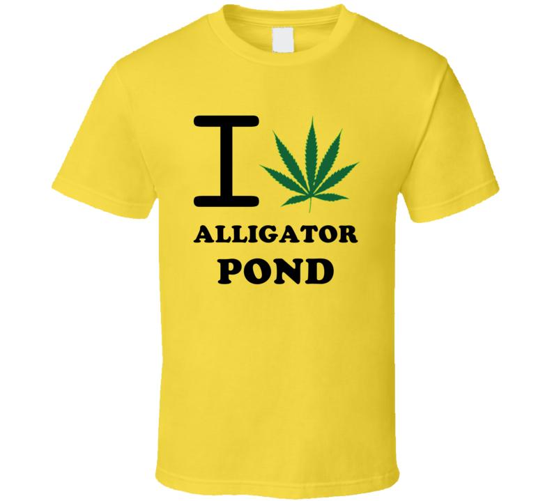 I Weed Alligator Pond Jamaica Heart Love Marijuana T Shirt