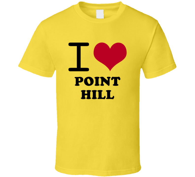 I Heart Point Hill Jamaica Love City T Shirt