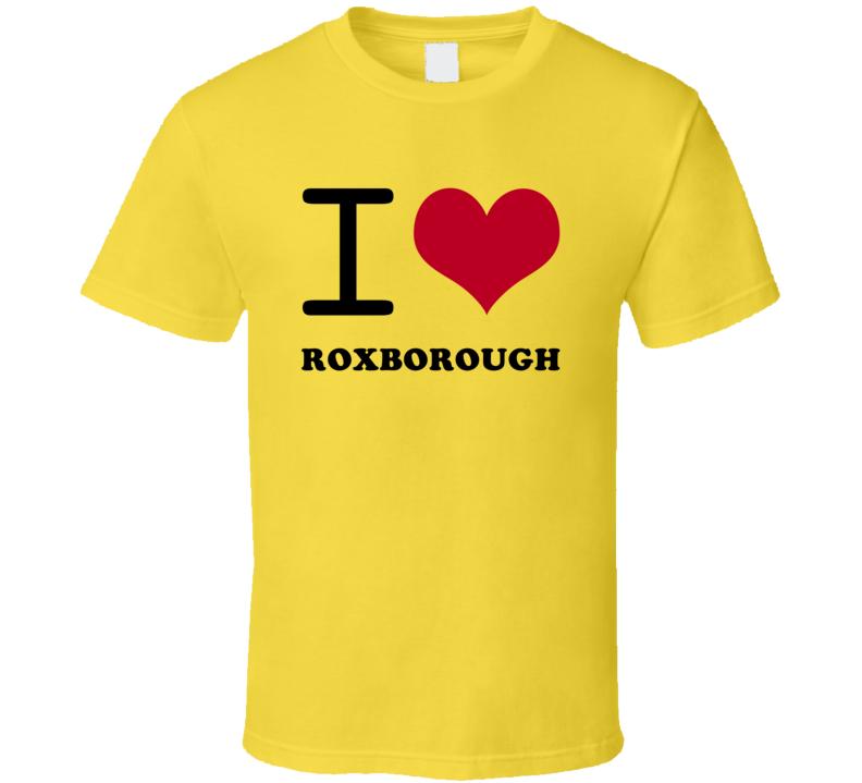 I Heart Roxborough Jamaica Love City T Shirt