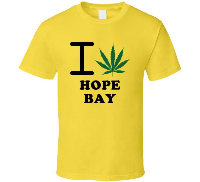 I Weed Hope Bay Jamaica Heart Love Marijuana T Shirt