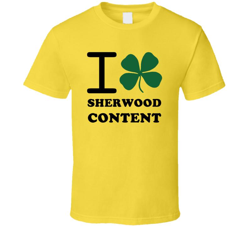 I Irish Clover Sherwood Content Jamaica Heart Love T Shirt