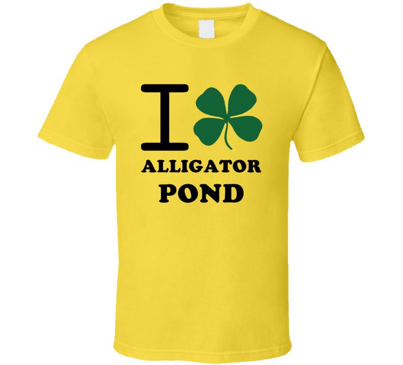 I Irish Clover Alligator Pond Jamaica Heart Love T Shirt