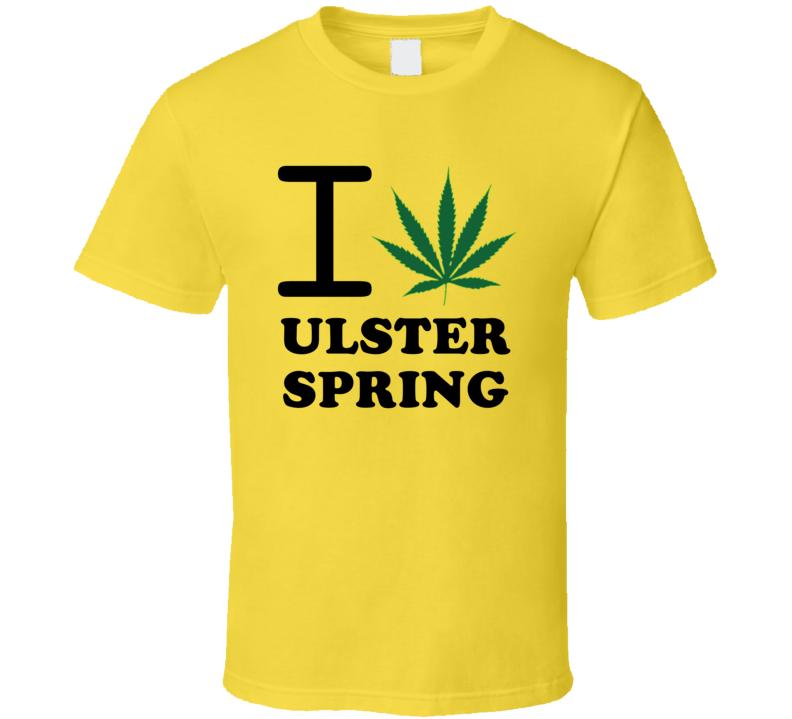 I Weed Ulster Spring Jamaica Heart Love Marijuana T Shirt