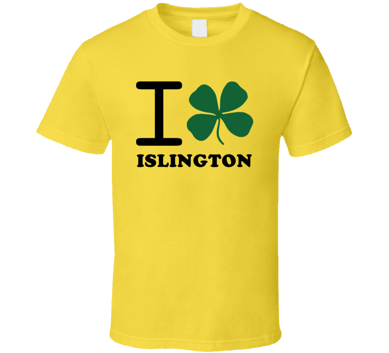 I Irish Clover Islington Jamaica Heart Love T Shirt