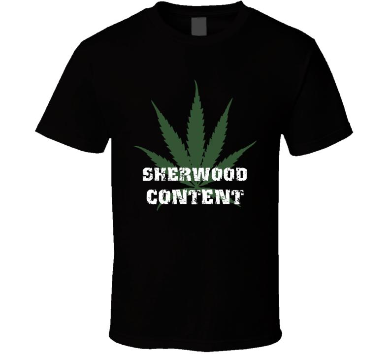 Sherwood Content Jamaica Cool Marijuana Weed T Shirt