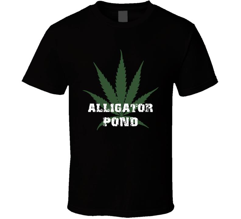 Alligator Pond Jamaica Cool Marijuana Weed T Shirt