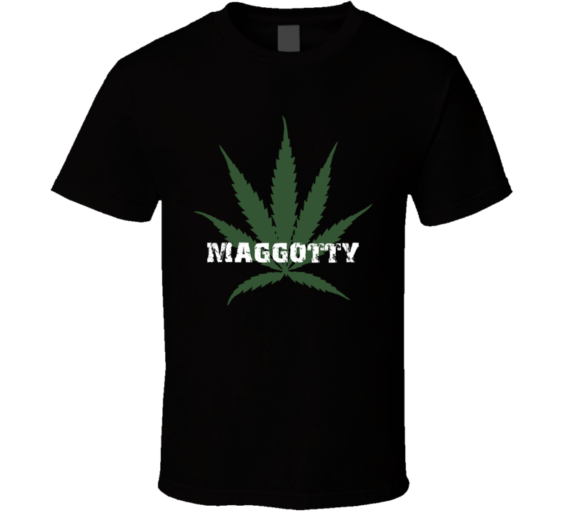Maggotty Jamaica Cool Marijuana Weed T Shirt