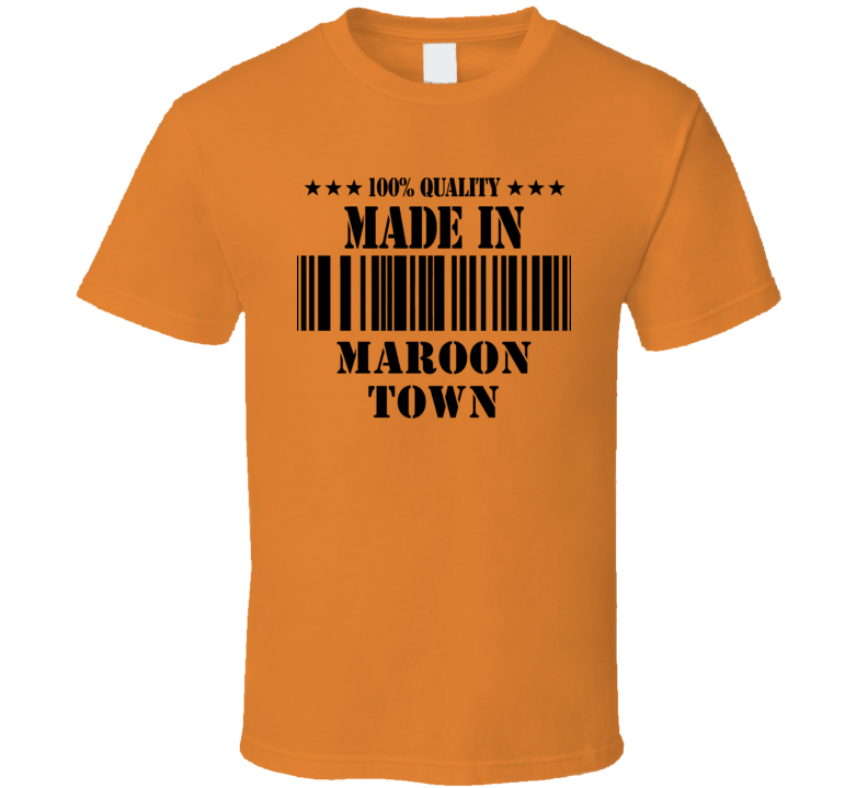 Made In Maroon Town Jamaica Cool City T Shirt