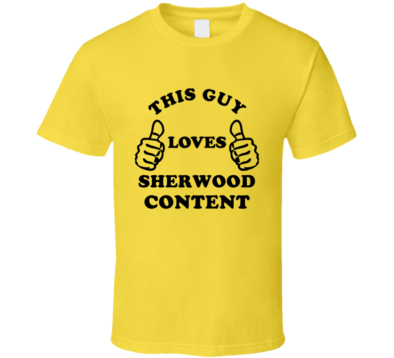 This Guy Loves Sherwood Content Jamaica Funny City T Shirt