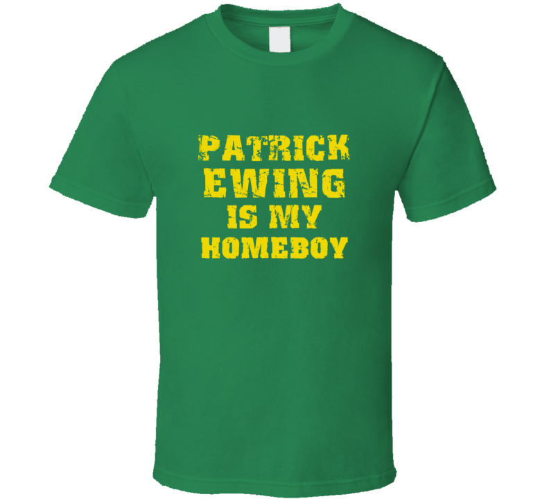 Patrick Ewing Is My Homeboy Jamaican Athlete Sports T Shirt