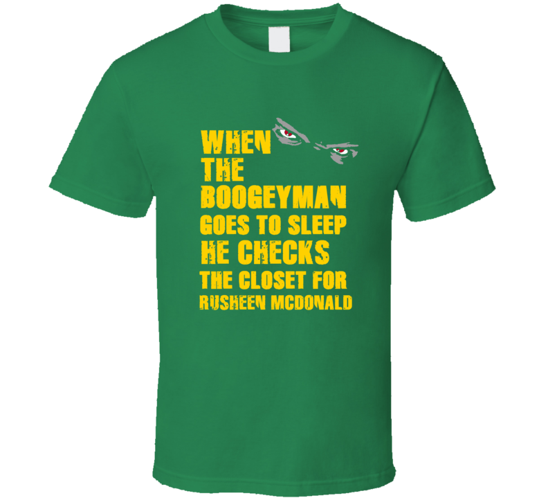Rusheen McDonald Boogeyman Jamaican Athlete Sports T Shirt