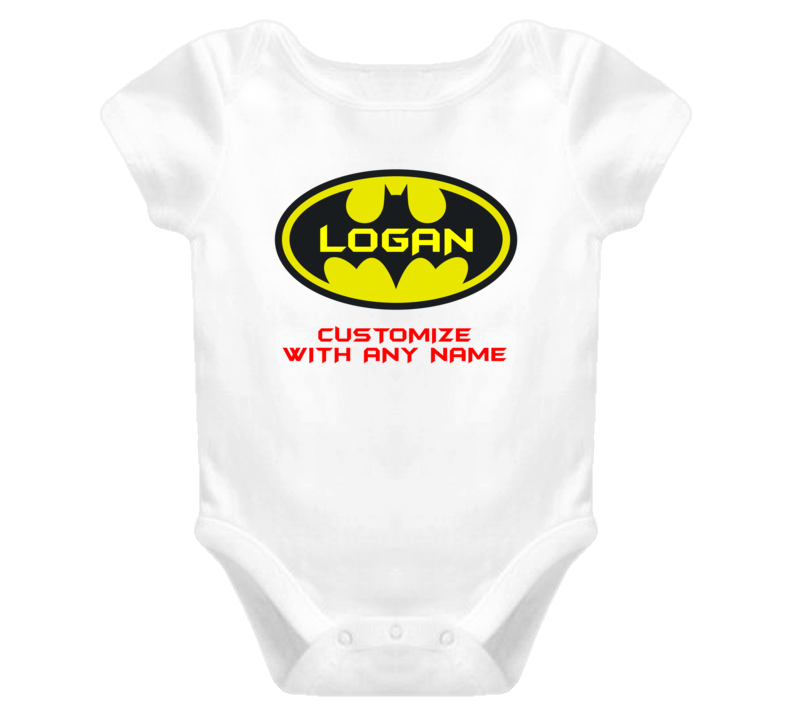 Batman Baby with name Baby One Piece