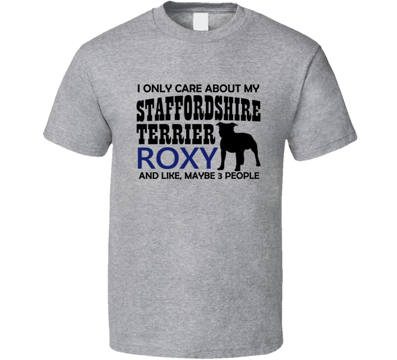 Staffordshire Terrier Custom T Shirt