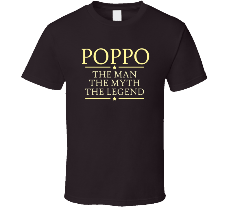 Poppo man myth legend T Shirt