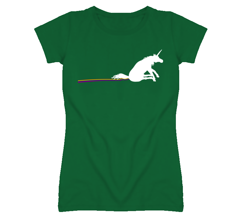 Unicorn and Rainbow T Shirt