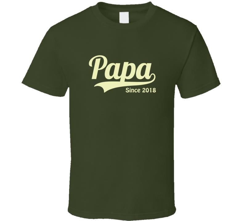 Papa Since Any Year T Shirt