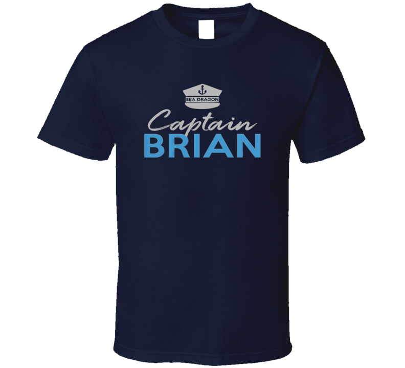 Boat Captain Custom With Any Name Personalized With Sea Vessell Yacht Name T Shirt