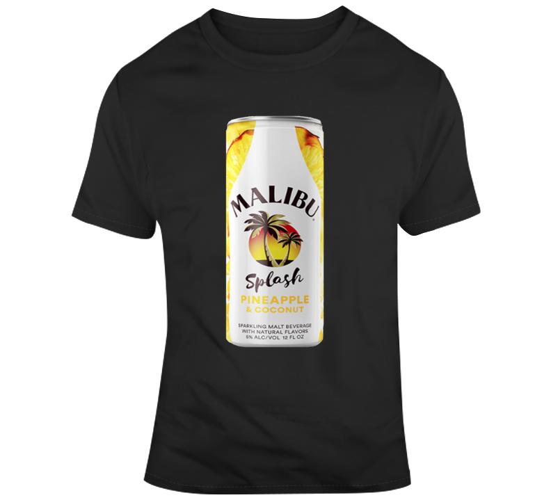 Malibu Splash Pineapple Coconut Malt Cooler T Shirt