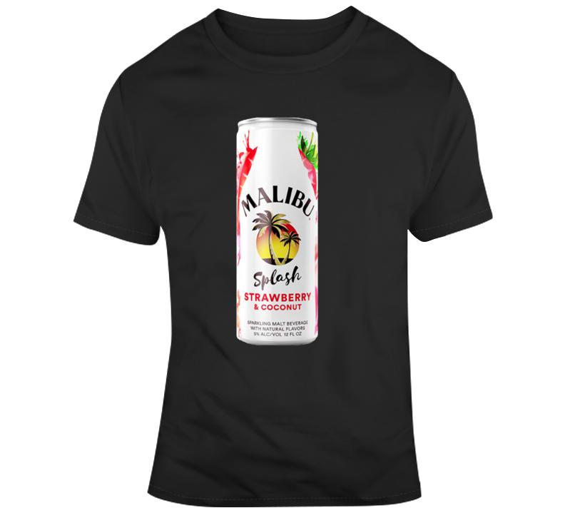 Malibu Splash Strawberry Coconut Malt Cooler T Shirt