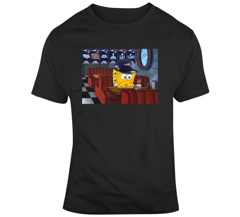 Sad Spongbob Tom Brady Leaving T Shirt