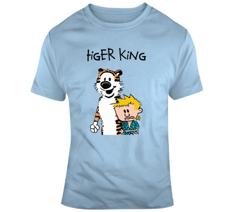 Tiger Calvin Hobbs Parody T Shirt
