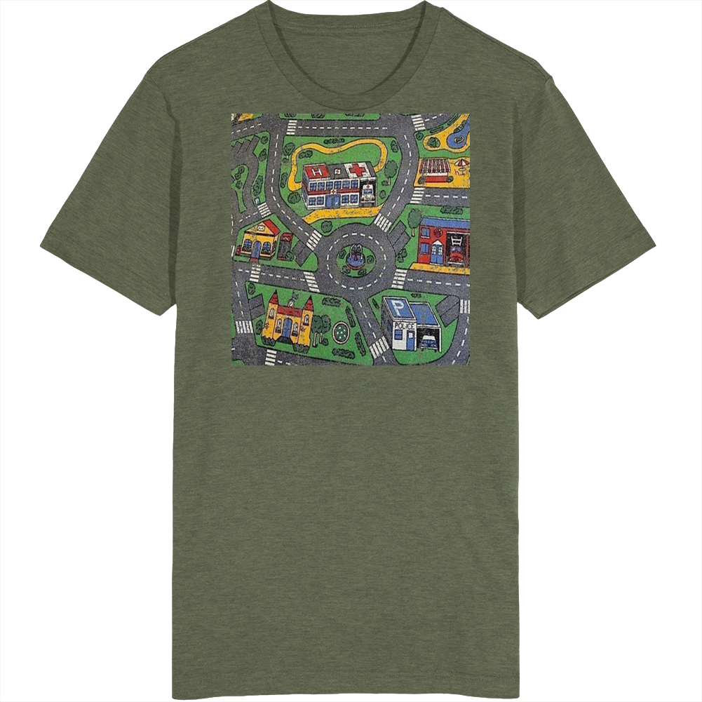 Kids Play Road Map Mat Vintage T Shirt
