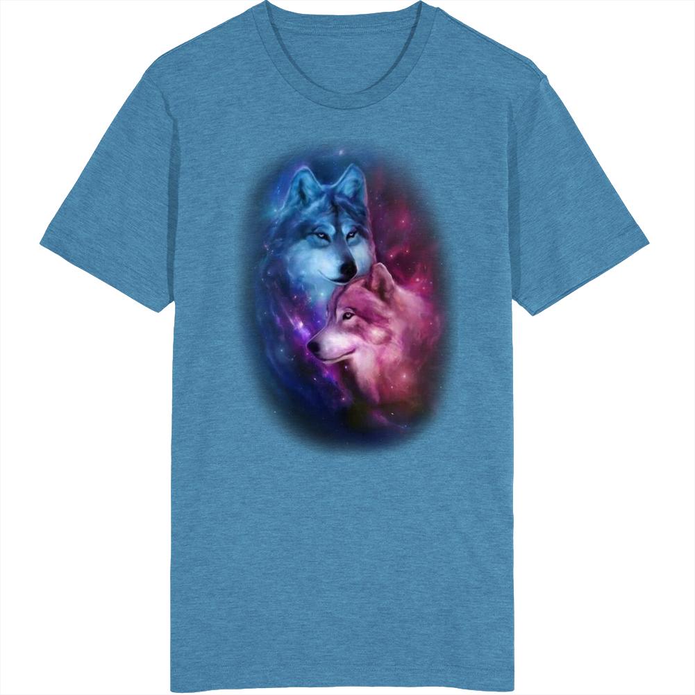 Wolves Night Sky T Shirt