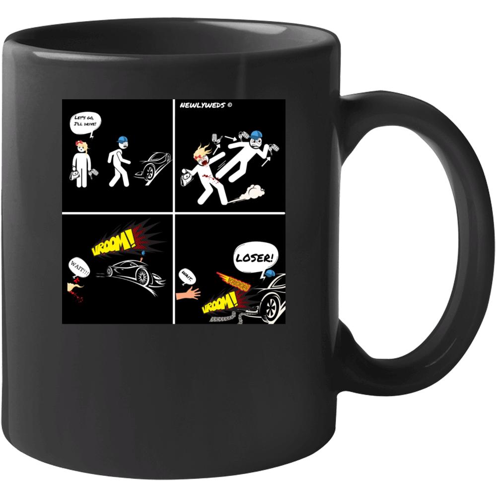 Newlyweds Comic Black Mug