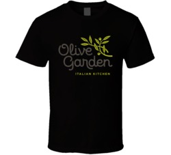 The Olive Garden Italian Restaurant Cool Worn Look Distressed Fan T Shirt