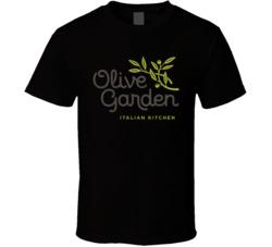The Olive Garden Italian Restaurant Cool Worn Look Distressed Fan T Shirt