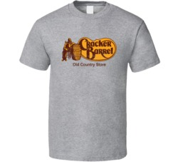 Cracker Barrel Restaurant Cool Worn Look Distressed Fan T Shirt