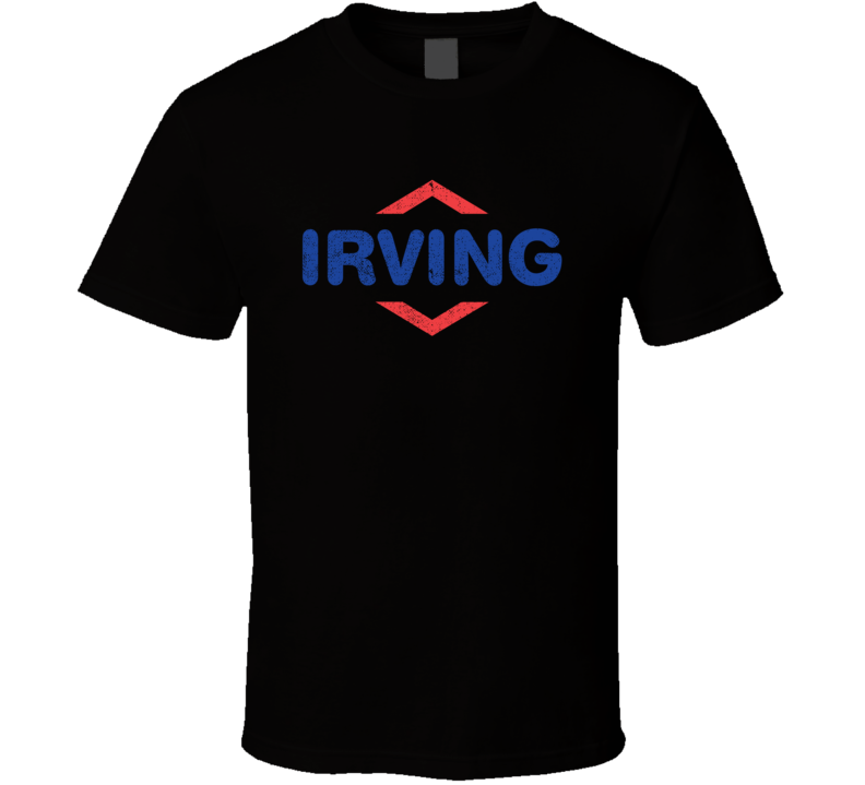 Irving Gas Station Convenience Store Cool Worn Look Distressed Fan T Shirt